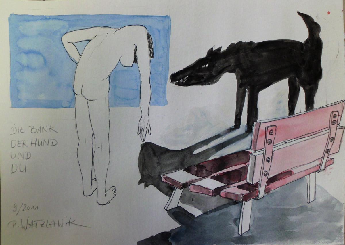 die bank der hund und du